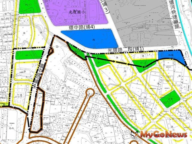 板橋埔墘地區都計通過,縫合板橋及中和都市發展(圖:新北市政府)