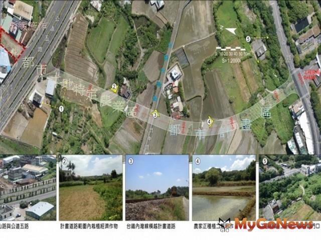 新竹縣公道五延伸新闢(向東)工研院中興院區支線工程 預定於2019年7月9月竣工(營建署)