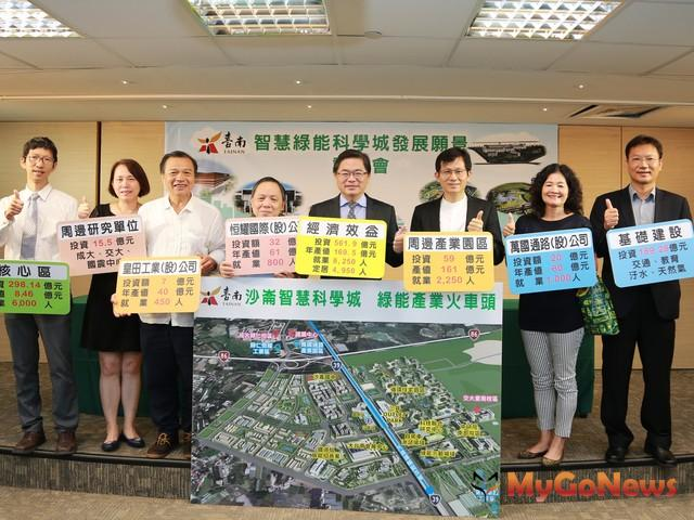 沙崙智慧綠能科學城願景可期,預估創造年產值約170億(圖:台南市政府)