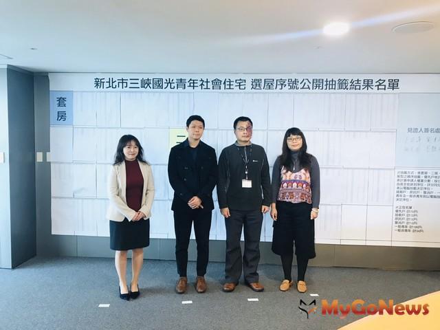 三峽國光青年社會住宅抽籤結果出爐,最快5月簽約入住(圖:新北市政府)
